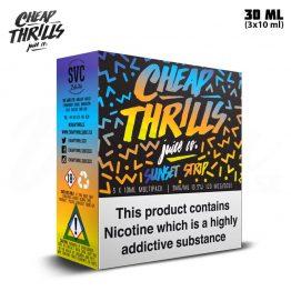 Cheap Thrills Sunset Strip TPD 3x 10 ml E-juice