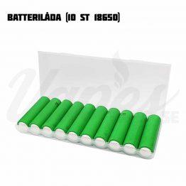 Batterilåda 10 st 18650